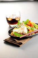 Asian_style cod with pan_fried vegetables
