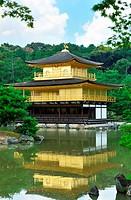Kinkakuji, the temple of golden pavilion in Kyoto, Japan