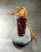 Calamary and red wine Verrine