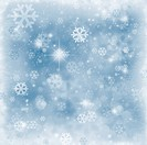 Winter background , snowflakes and sparkles , copyspace