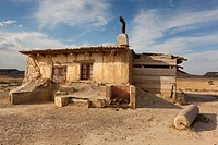Refuge in the Bardenas Reales, Navarra, Spain