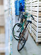Bicycle in a warehouse