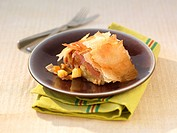 Ham and apple savoury Strudel