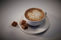 Cup of Cafe latte with caramels