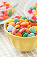 Close up of multicolored candy