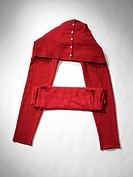 Colorful clothes create the letter A