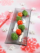 Spinach gnocchis,cherry tomatoes and creamy cheese sauce
