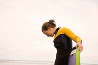 Surfer Wearing Wet Suit