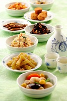 Dishes of Japanese Food