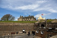 interior walls and entrance to stirling castle scotland uk