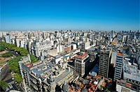 View of Buenos Aires, Buenos Aires, Argentina.