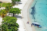 Beach, Ocho Rios, Jamaica, West Indies, Caribbean, Central America.