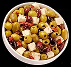 Greek Olive Mix With Feta Cheese
