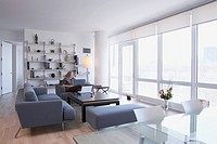 Woman in apartment