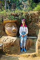 Woman, Longneck Karen tribe, Ban Nai Soi village, Mae Hong son Province, Thailand.