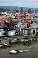 Die Altstadt von Bratislava der Hauptstadt an der Donau in der Slowakei in Osteuropa.