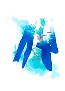 Blue Coat With Sea Life