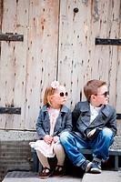 Kinder im Freien