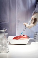 Beef Injected By Syringe