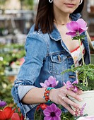 Woman Shopping in Plant Nursery