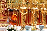 Die Architektur des Wat Phra That Doi Suthep Tempel in Chiang Mai im Norden von Thailand.