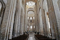 Sainte Foy abbey church, Via Podiensis or Chemin de St_Jacques, UNESCO World Heritage Site, Conques pilgrimage site, Midi_Pyrenees, France, Europe, Ab...