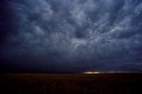 Storm Clouds over a Prairie