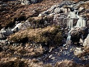 Waterfall along the Golden Road of South Harris in Scotland´s Outer Hebrides.