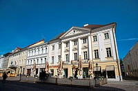 Raekoja plats the main square Tartu Estonia the Baltic States Europe