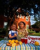 Girls at Lemonade Stand
