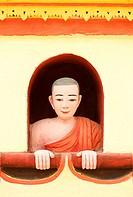 Buddha image, Thanboddhay Paya, Monywa, Burma. Myanmar. Thambuddhei