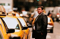 Businessman Waiting for Cab