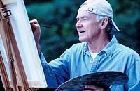 Senior Man Painting