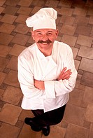 Confident Chef Wearing Chef´s Hat