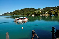 Excursion boat on lake Fuschl, Flachgau, Salzburg_land, Austria