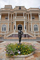Amazonian statue in front of Palacio Rio Negro museum and cultural center, Manaus, Amazonas, Brazil, South America