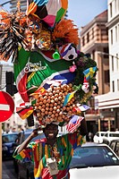 The famous street_art performer Eggman, Gregory da Silva, Cape Town, Western Cape, South Africa
