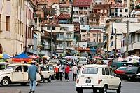 Rabefiraisana Street scene looking east, Antananarivo, Madagascar