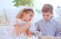 Tea time for children
