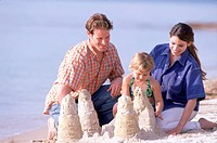 Family sandcastle