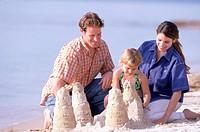 Family sandcastle
