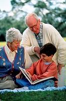 Grandson reading
