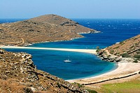 Kolona beach in Kythnos island Cyclades Greece