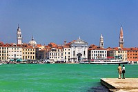 Italy , Venezia City , Santa Maria de la Pieta Church , skyline