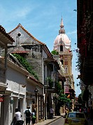 The 16th century Cathedral, Old Walled City District, UNESCO World Heritage Site, Cartagena of the Indies, Bolívar Department, Colombia, South America...