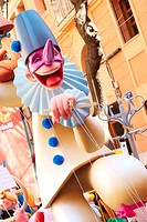 'Ninot' monument created for 'Fallas' celebration, Valencia, Comunidad Valenciana, Spain