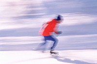 An ice_skater in action