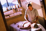 Calming massage at a health spa