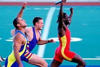 Winning sprinter
