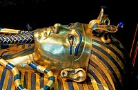 Sarcophagus of Tutankhamun-detail, Museum of Egyptian Antiquities, Cairo, Egypt,